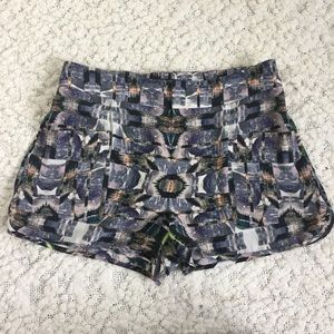NWOT Intermix Silk Printed Cargo Shorts, P